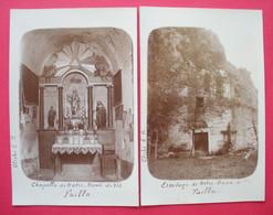 66 Fuilla RARE 2 Carte Photos Ermitage De Notre-Dame De Vie Dos Scanné éditeur Emile Rous Prades - Other Municipalities