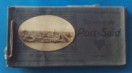 Carnet De Onze Cartes Postales Anciennes - Égypte - Port-Saïd - Port Said