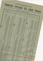 FEUILLE   LOTERIE  NATIONALE   1959 - Unclassified
