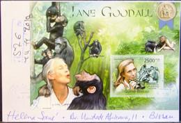 Guinea-Bissau - Registered Cover 2018 Chimpanzee Jane Goodall - Chimpanzees