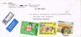 41704. Carta Aerea Certificada MONROVIA (Liberia) 1978 To England. Zeppelin Stamp - Liberia
