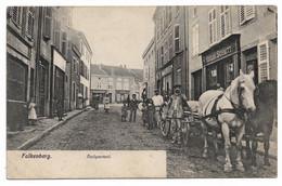 FAULQUEMONT - Attelage Devant Une Boutique. - Faulquemont