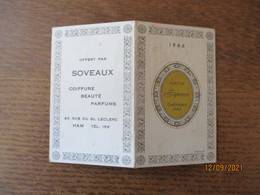 HAM SOVEAUX COIFFURE BEAUTE PARFUMS 43 RUE DU GL LECLERC CALENDRIER 1966 - Small : 1961-70