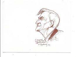 Double Bristol  Avec Autographe De G. Wague ,dessins De A. Galland ,Willette Et Poulbot . - Künstler