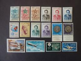 MAROC Royaume, Poste Aérienne, Année 1957-69, YT N° 103 à 118 Neufs MH*, Série De 16 Valeurs - Marokko (1956-...)