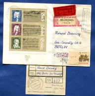 DDR  Block  81  +  5 Pf. Sozphilex   Exprèsbrief  Einschreiben  Aus Fredersdorf  7.8.86  RZ Von Petershagen  Nach Berlin - Briefe U. Dokumente