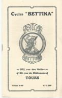 GG  / Livret Tarif Catalogue CYCLE BETTINA TOURS Avec Ses Deux Plaques Identité  Acier Velo Bicyclette Cyclisme - Sport
