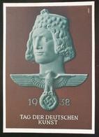 Deutsches Reich 1938, Postkarte TAG DER DEUTSCHEN KUNST München Sonderstempel - Storia Postale