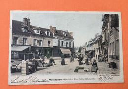 28 - MAINTENON - Marché Et Rue Colin D'Harleville  (Cachet Pharmacie G. Berger Au Dos...) - Maintenon