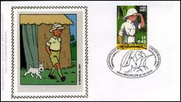 3048 - FDC Zijde - Kuifje - Tintin Au Congo #1 - 2001-10