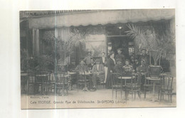 Saint Girons, Café Monge, Grande Rue De Villefranche (CP Vendue Dans L'état) - Saint Girons