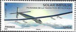 FRANCE, 2021, MNH, SOLAR IMPULSE,PLANES, ECOLOGY,1v - Protezione Dell'Ambiente & Clima