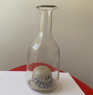 Carafe Absinthe En Verre LA CRESSONNEE Environ 1890 - Spirits