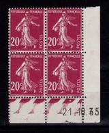 Coin Daté - YV 190 N** Semeuse Du 21.10.35 , 1 Point - ....-1929