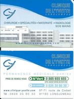 Carte De Visite - Clinique De L'Yvette -  91160 LONGJUMEAU - Other
