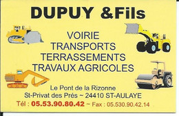 Carte De Visite - DUPUY & Fils - 24410 ST-AULAYE - Other