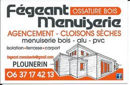 Carte De Visite - FEGEANT MENUISERIE - 22780 PLOUNERIN - Other