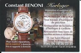 Carte De Visite - HORLOGER  -78000 VERSAILLES - Other