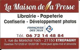 Carte De Visite - La Maison De La Presse - 27150 ETREPAGNY - Other