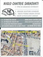 Carte De Visite - NOGLO CHATRIE SARASVATI - 13460 Les Saints Marie De La Mer - Other