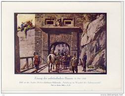 EINZUG DER AUFSTÄNDISCHEN BAUERN  - Sammelbild # 12, 1919 Zu Andre Hofer (Feigenkaffeefabrik) Bilderreihe  ... - History