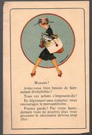 (guerre 39-45, Vichy Propagande) Papillon Anticonsumériste Illustré Couleur  ParLEMEUNIER  (PPP31547) - Unclassified