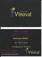 Carte De Visite - Vignobles VINOVAL - 34150 Saint Jean De Fos - Other