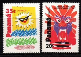 P361A - PANAMA - 1987 - SC#: 706-707 - MH - TROPICAL CARNIVAL - Panamá