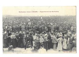 Béziers, Manifestation Viticole. Rassemblement Des Manifestants (11918) - Beziers