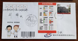 CN 20 Ganzhou Fight COVID-19 Commemorative PMK And Ambient Temperature And Survival Time Official Propaganda Label Used - Krankheiten