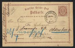 ALLEMAGNE 1871: CP Entier De 2p De Offenbach Pour Bremen - Briefe U. Dokumente