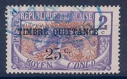 CONGO FRANCAIS - Q 2  25C SUR 2C TIMBRE POSTAL UTILISATION FISCALE - OBL USED COTE 10 EUR - Usati