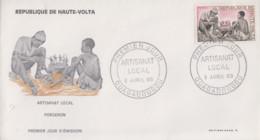 Enveloppe  FDC   1er   Jour     HAUTE  VOLTA      Artisanat   Local    Forgeron    1969 - Haute-Volta (1958-1984)