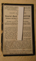 Soldaat De Zaeytijd Camiel - ° Melden Bij Oudenaarde - Gesneuveld Aan De Ijzer 1915 - Oorlog - Karabiniers - Oudenaarde