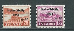 Islande - Yvert N243/244 ** 2 Valeurs Neuves Sans Charnière  -  AU 8214 - Nuevos