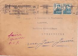 25695# LETTRE INSTITUTUL POLITECHNIC DIN IASI RECOMMANDEE Obl IASI 1956 ROMANIA ROUMANIE Pour LUXEMBOURG - Cartas