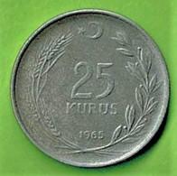 TURQUIE / 25 KURUS / 1965  / - Turkey