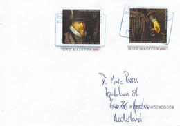 St Maarten 2021 Philipsburg Prince Maurits Of Nassau Royalty Painting Cover - Niederländische Antillen, Curaçao, Aruba