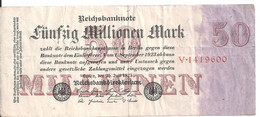 ALLEMAGNE 50 MILLIONEN MARK 1923 VF P 97 - 50 Millionen Mark