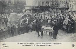 LES ZEPPELINS SUR PARIS - Les Funérailles Nationales Des Victimes (5) - Lots, Séries, Collections