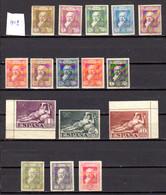 Espagne 1930, 100 Ans Mort De Goya, 413 / 428** (no 412, Trace Encre Et Adh), Cote 74 € - Ongebruikt