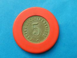 Jeton  CASINO CONTREXEVILLE 5 FRANCS NUMEROTE - Casino