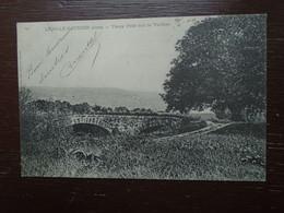 """Carte Assez Rare De 1904 , Lons-le-saunier , Vieux Pont Sur La Vallière """""""" Beau Timbre Décalé """""""" - Lons Le Saunier"""