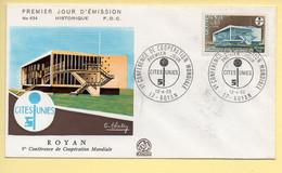 FDC N° 1554 - Vème Conférence De Coopération Mondiale - Cités Unis - 17 Royan 13/04/1968 - 1960-1969