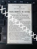 [V] De Sutter Maria Theresia Van Zevenkoten Charles Louis Appelterre 1856 1929 Ninove - Avvisi Di Necrologio