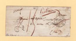 Paris - 1854 - Lettre Detaxee - Taxe Corrigee - St Mande Paris - Sans Correspondance - 1849-1876: Periodo Clásico