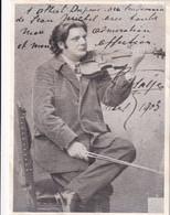 Portrait , Eugene ISAYE ( ..(photo Aimé Dupont , New York) A Albert DUPUIS 1903 - Collections