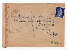 1944. WWII AUSTRIA,EISENERZ CAMP SENT TO BELGRADE,GERMAN OCCUPATION OF SERBIA,CENSORED - Storia Postale