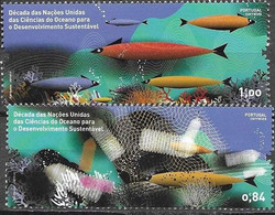 PORTUGAL, 2021, MNH, FISH, UNITED NATIONS DECADE FOR OCEAN SCIENCES FOR SUSTAINABLE DEVELOPMENT,2v - Protezione Dell'Ambiente & Clima