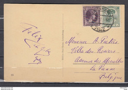 Brief Van Luxembourg Naar La Panne - 1921-27 Charlotte Voorzijde